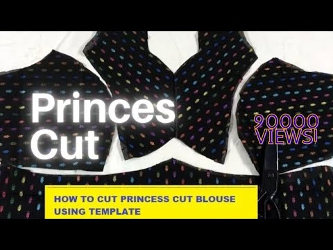 PRINCESS CUT BLOUSE HOW TO CUT EASILY IN TAMIL 2017
