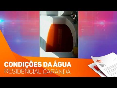 Condições da água no residencial Carandá em Sorocaba - TV SOROCABA/SBT