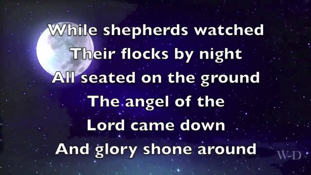 While shepherds watched their flocks by night (by sally deford.