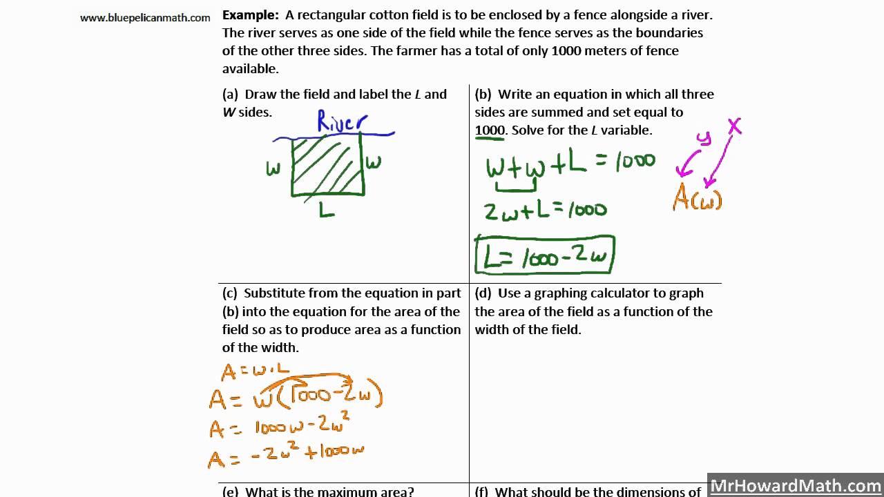 Question About Quadratic Function