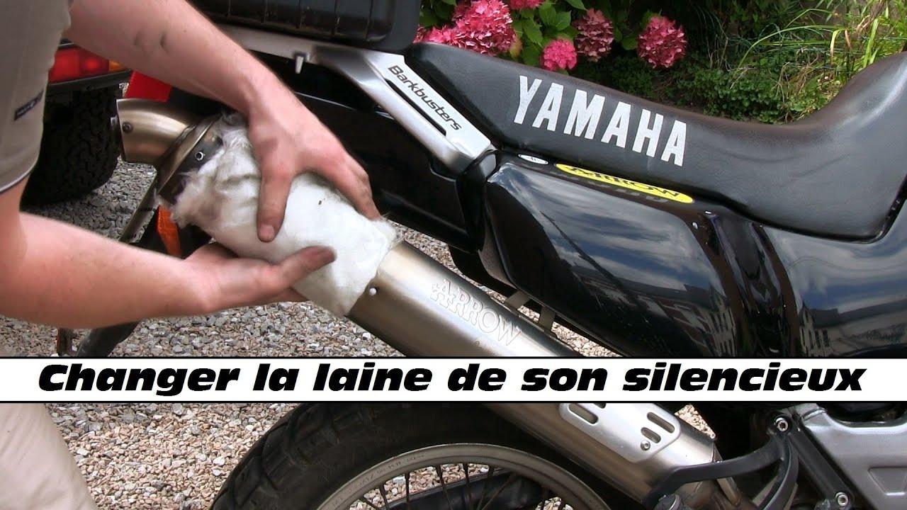 M canique moto changer la laine de son silencieux for Changer d interieur