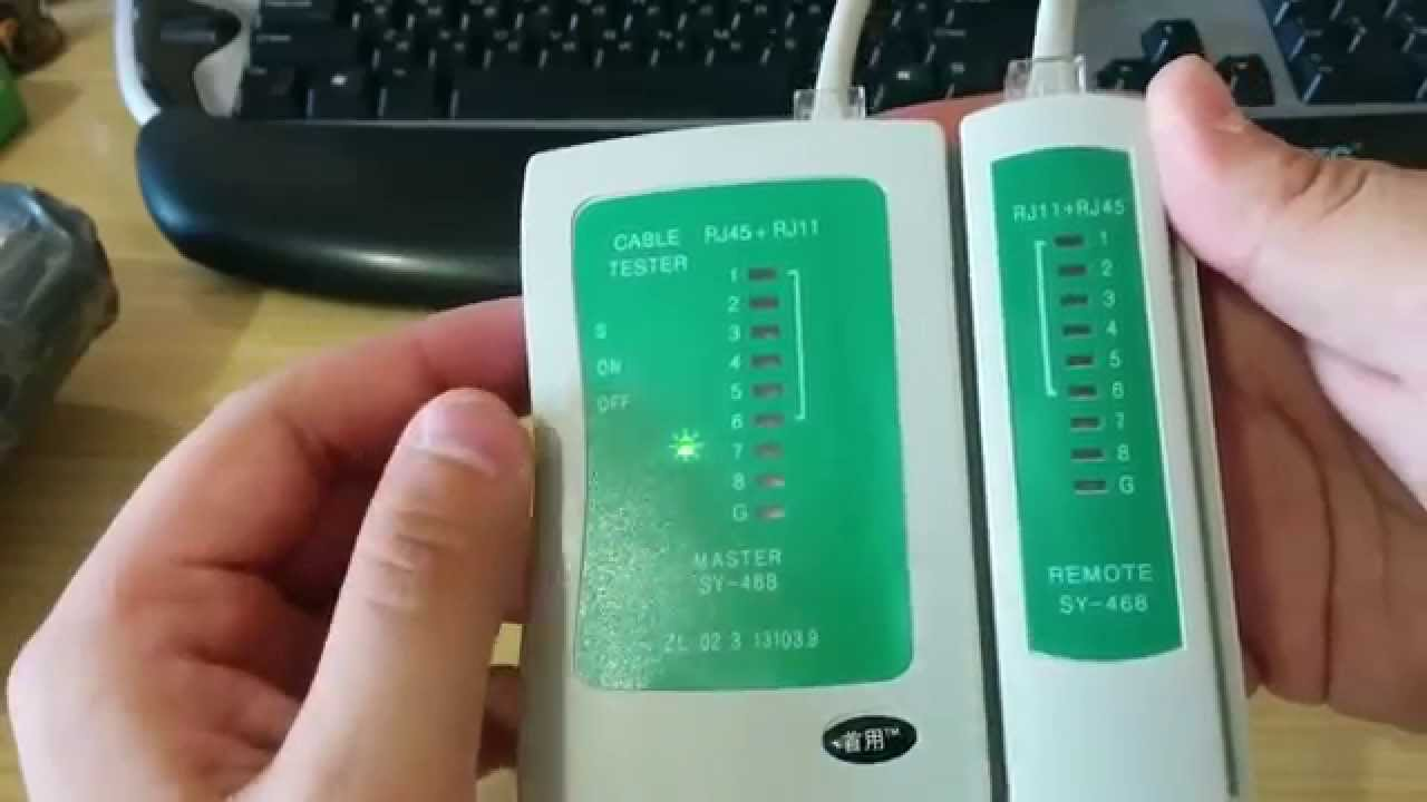 RJ45 RJ11 RJ12 Wire Cable Crimp and Cable Tester RJ45 - YouTube