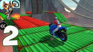 Impossible Motor Bike Tracks - Motorbike Driving Simulator - Gameplay Part 2(iOS, Android)