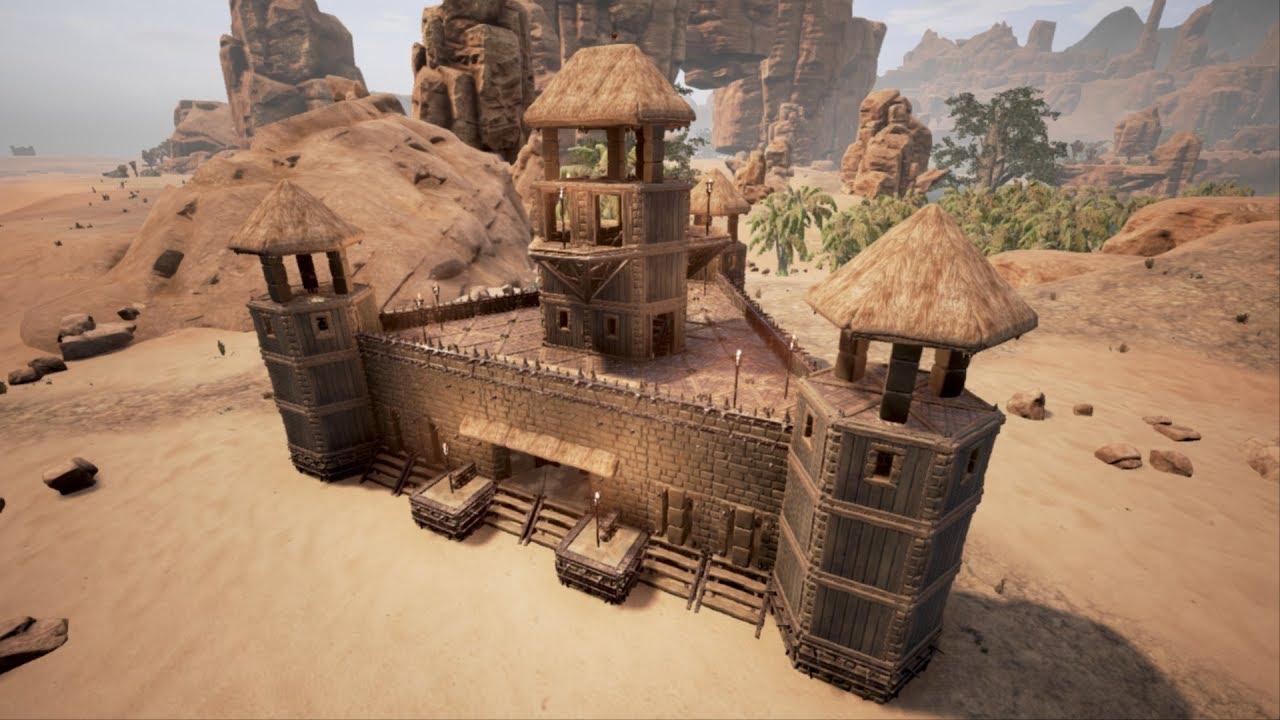 Conan Exiles Building A Triangular Castle Youtube