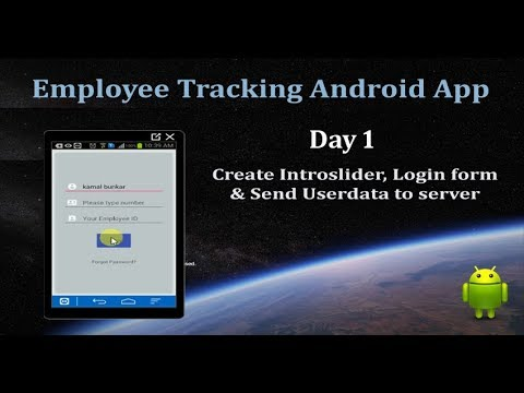 Day 1- Employee Tracking Android App from scratch
