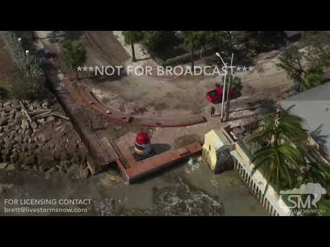 9-12-2017 Key West, FL - Helicopter Footage of Hurricane Irma