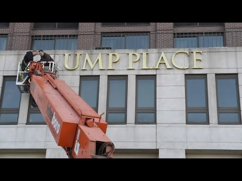 Trump's name removed from New York City apartment building