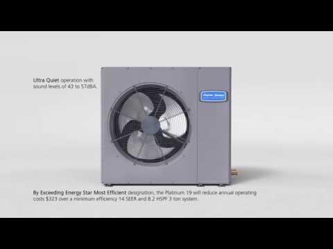 American Standard's Ultra Quiet Platinum 19 Variable Speed Low Profile Heat Pump