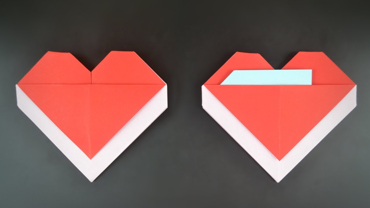 Origami: Heart Envelope for Valentine's Day - Instructions ...