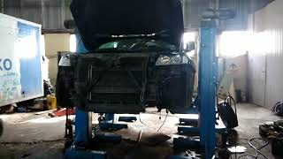 Как снять мотор 4.2 audi q7