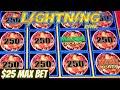5 MAJOR JACKPOTS on LIGHTNING & DRAGON LINK Slot machines!