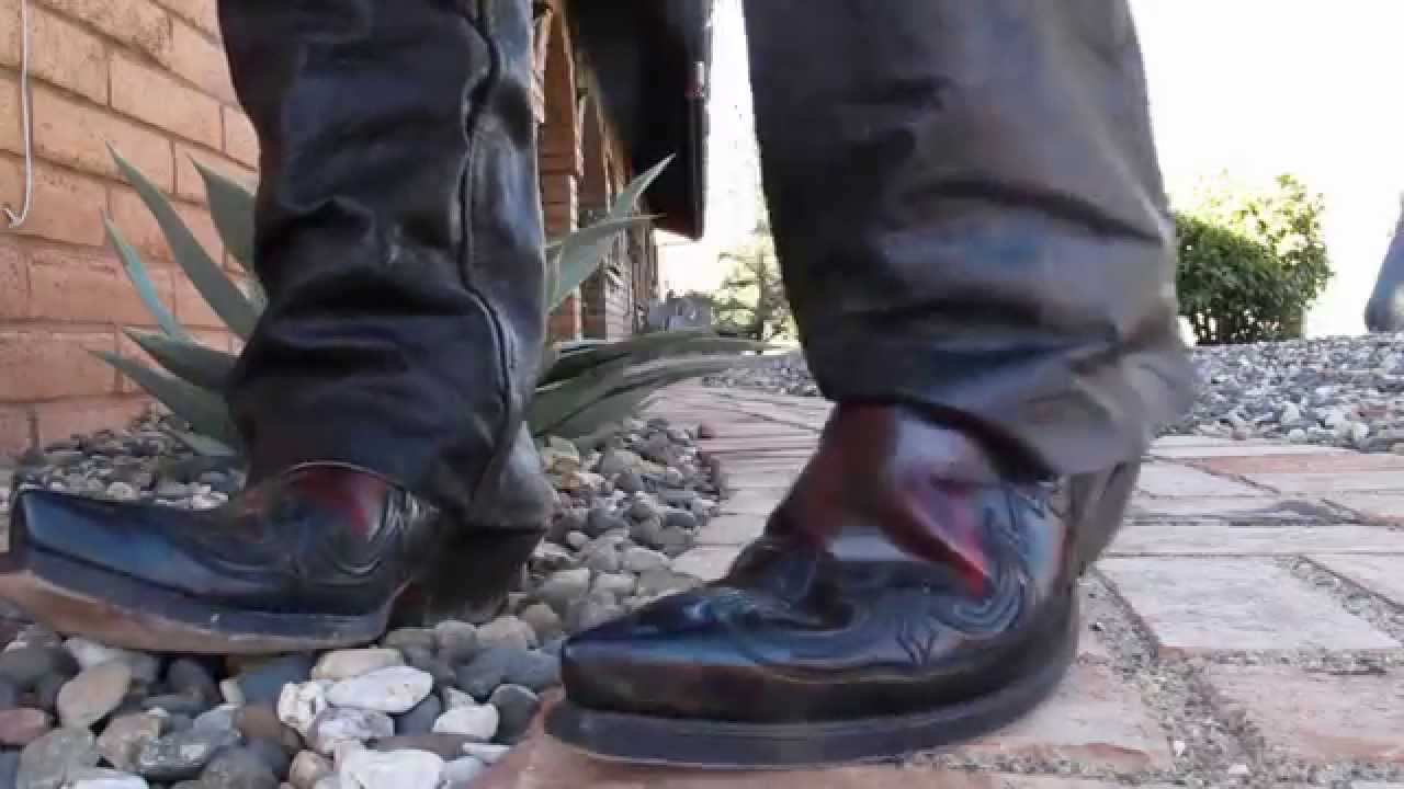 Cowboy Boots and Leather Pants - YouTube