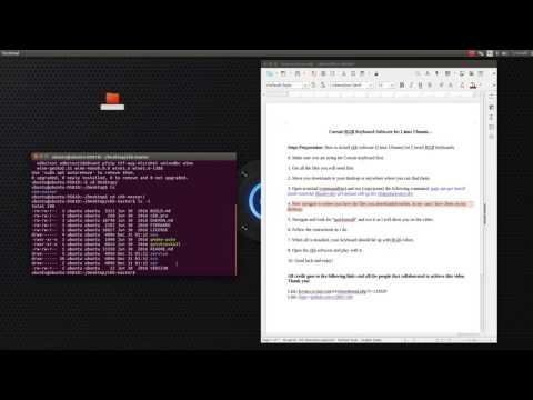 CKB software Corsair RGB Keyboard Software for Linux Ubuntu - YouTube