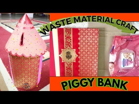 DIY Waste Material Craft l How to Make a Piggy 🏦 Bank from Waste Materials l All in one