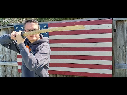 How to make a Wooden Katana - The Pallet Upcycle Challenge 2016