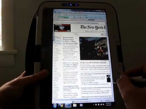 CTL Classmate PC convertible tablet style netbook - video review