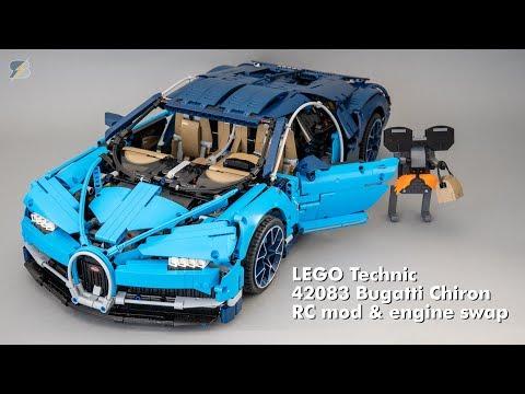 LEGO Technic 42083 Bugatti Chiron RC mod & engine swap