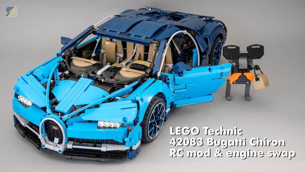 lego technic 42083 bugatti chiron rc mod engine swap. Black Bedroom Furniture Sets. Home Design Ideas