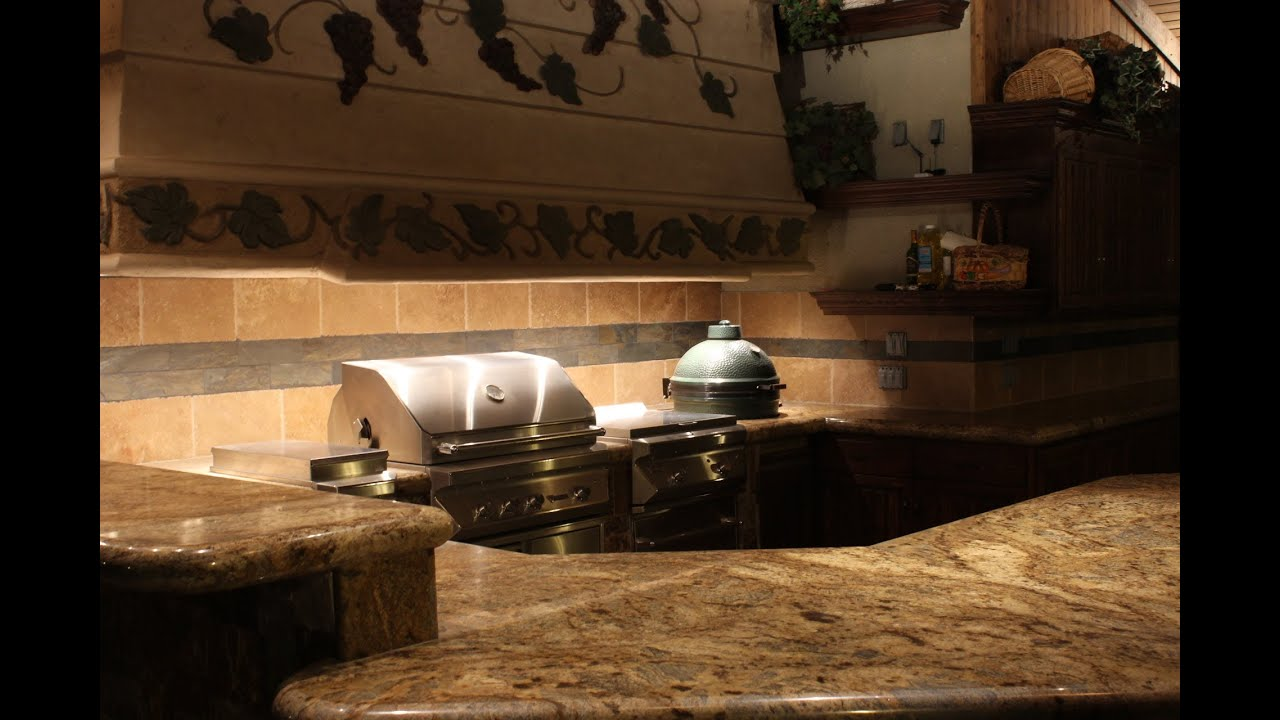 Kitchen Setup Ideas Unclog Sink Drain How To Install 'big Green Egg' In An Outdoor ...