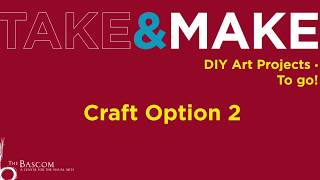 Take and Make Lesson 1: Learning About Water,  Craft Option 2
