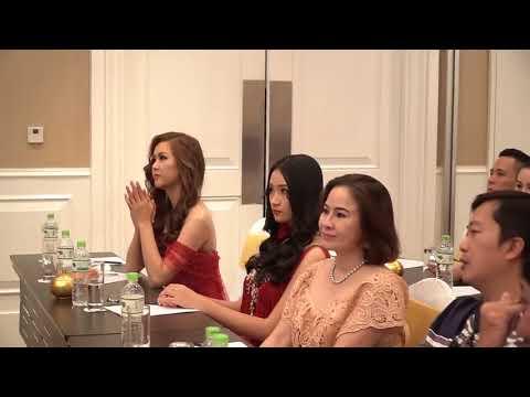 Khánh Ngân gặp gỡ báo chí sau đăng quang The Miss Globe 2017