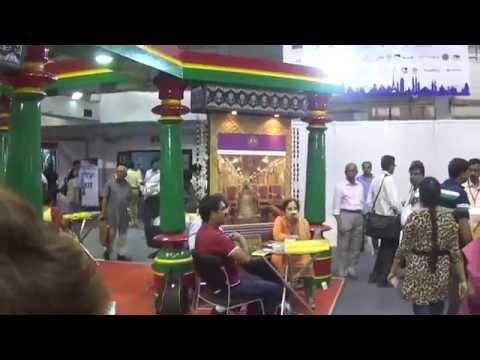 Beautiful Karnataka Tourism Stall At TTF 2014 At Kolkata (Calcutta), India HD Video