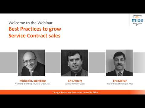 Best Practices to Grow Service Contract Sales  On Demand Web
