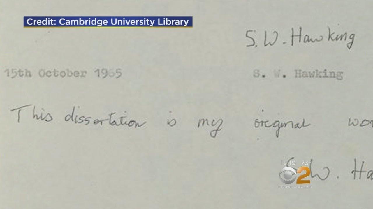 Stephen Hawking's thesis crashes Cambridge University's site