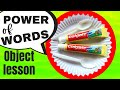 WORDS & TOOTHPASTE:  A fun game & object lesson  CHILDREN'S MINISTRY IDEAS