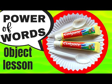 POWER of WORDS: Object lesson & toothpaste game for KIDS