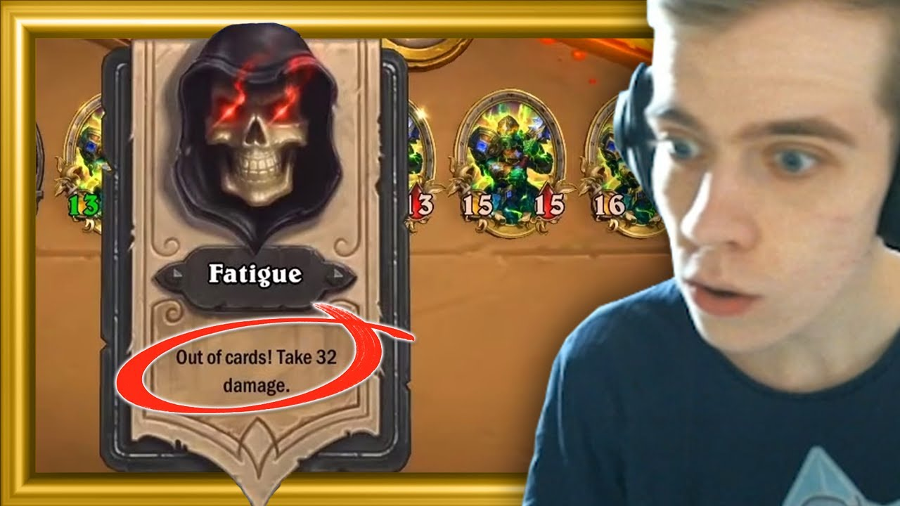 What's the Most Fatigued You've Ever Been in Hearthstone?
