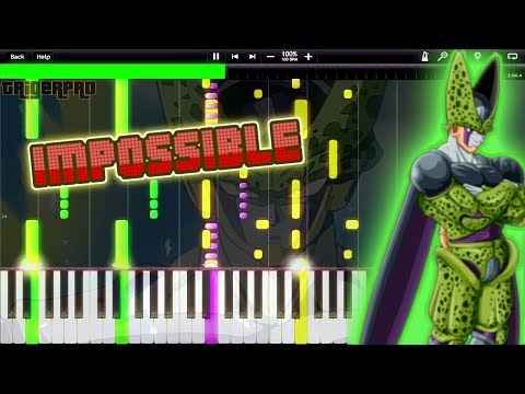 IMPOSSIBLE! PERFECT CELL THEME !! - Dragon Ball Z OST (Piano Cover Tutorial) [Synthesia]