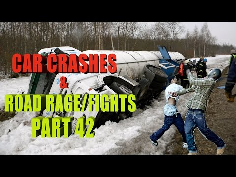 Road Rage 2015   Fight in Roads and Crashes Part 42