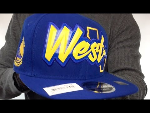 33466249828 Warriors  NBA ALL-STAR CONFERENCE BEVEL SNAPBACK  Hat by New Era ...