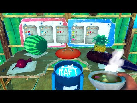 AMAZING *NEW* Cooking Pot - Cooking EPIC Meals! - New Raft Update - Raft Gameplay