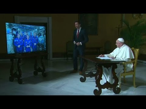 Pope Francis speaks to astronauts on the International Space