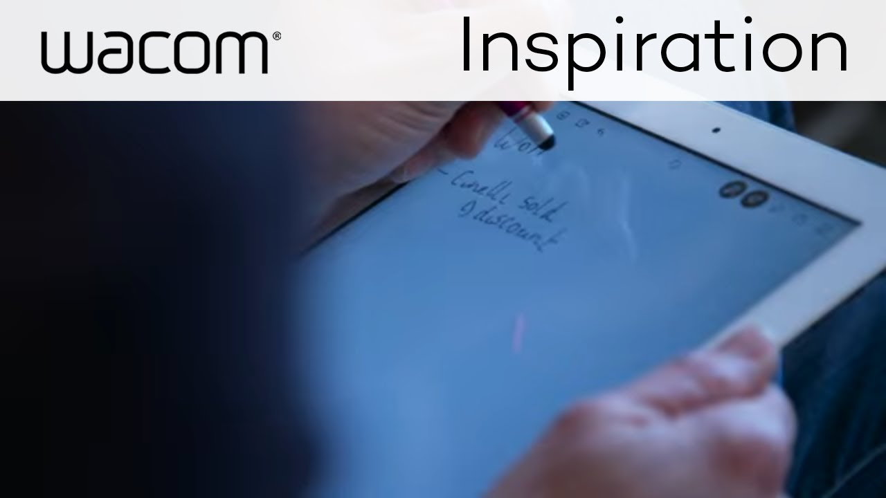 making ideas with wacom | how bamboo paper got a business rolling