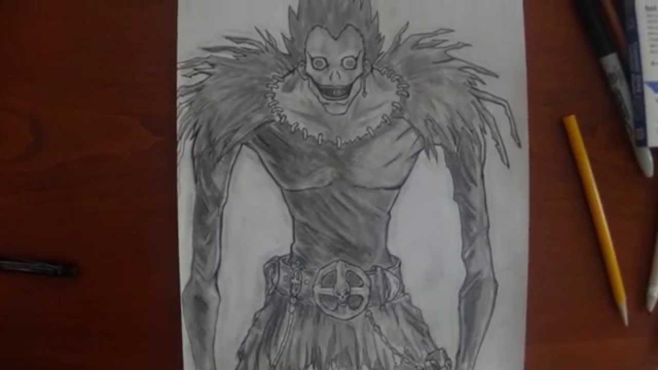 My Pencil Ink Drawing Ryuk Death Note