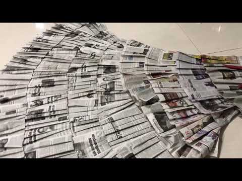 Cara membuat baju dari koran , simple ! Dan mudah ! How to make dress from newspaper