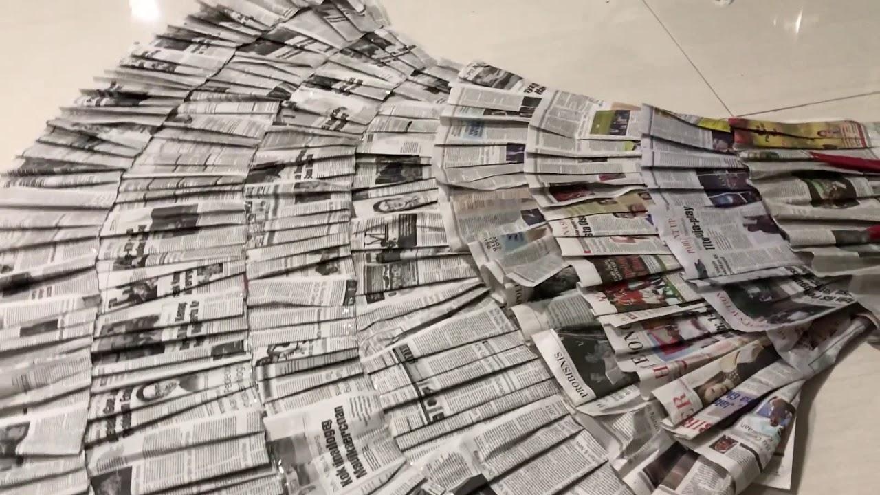 Cara Membuat Baju Dari Koran Simple Dan Mudah How To Make Dress From Newspaper