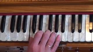 Уроки игры на фисгармонии Арджуна Кришна пр 4 Мелодии киртана