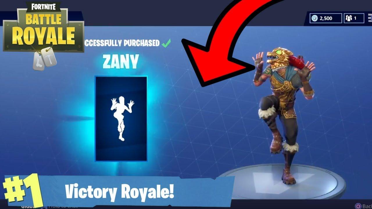 New Zany Dance Zany Emote In Fortnite Fortnite New Dance