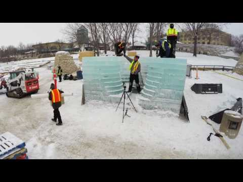 Stackhouse by Anish Kapoor | Warming Huts 2017 | Build Timelapse