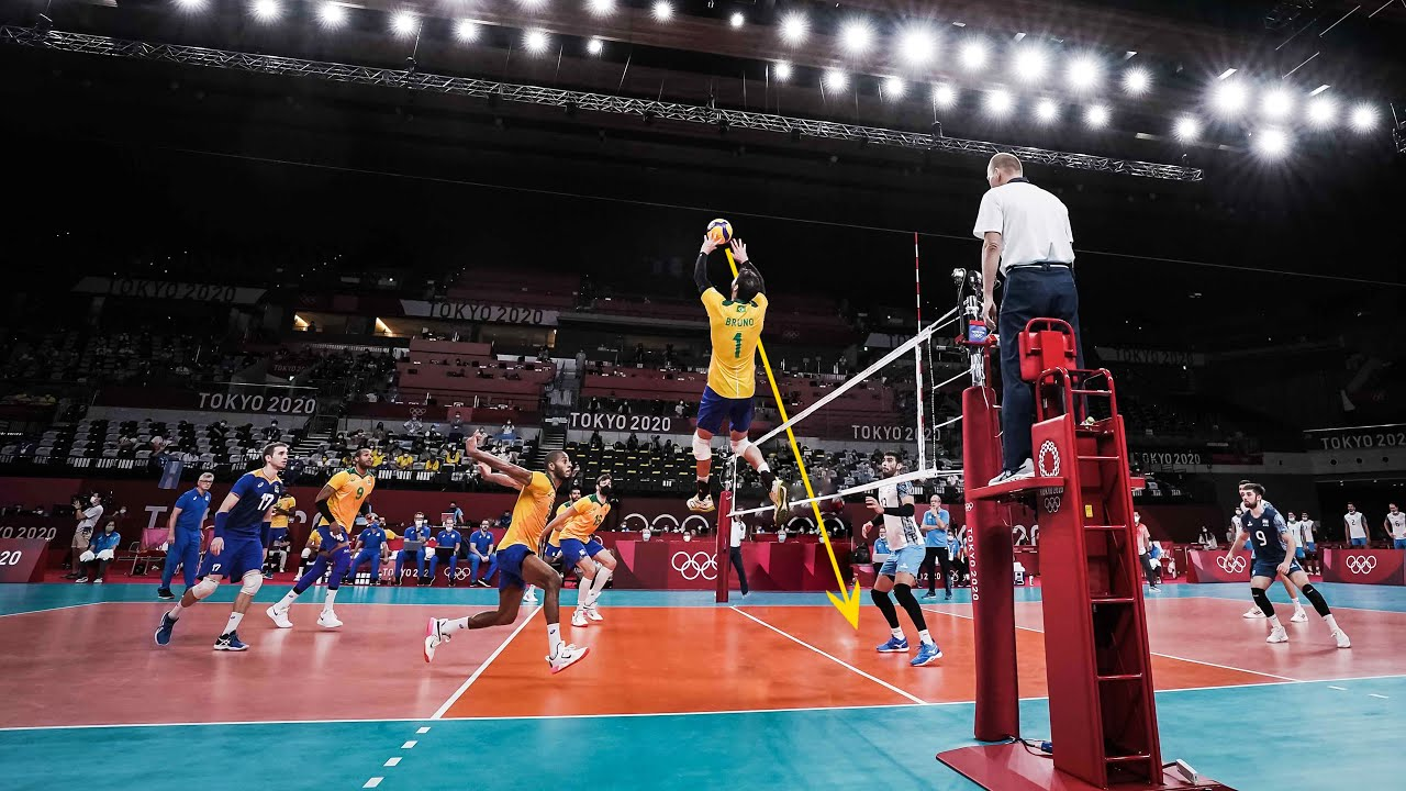 The Brain of Volleyball Team Brazil   Bruno Rezende   KING Of Setters !!!