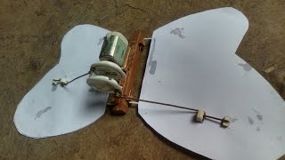 How to make BUTTERFLY with DC motor.
