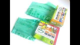 IHERB: Biobag, Tall 3/13 Gallon Food Scrap Bags (Пакеты для мусора) - Видео обзор