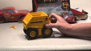 Pixar Cars2 Colossus XXL Dump Truck and Micro Drifter..nice ...