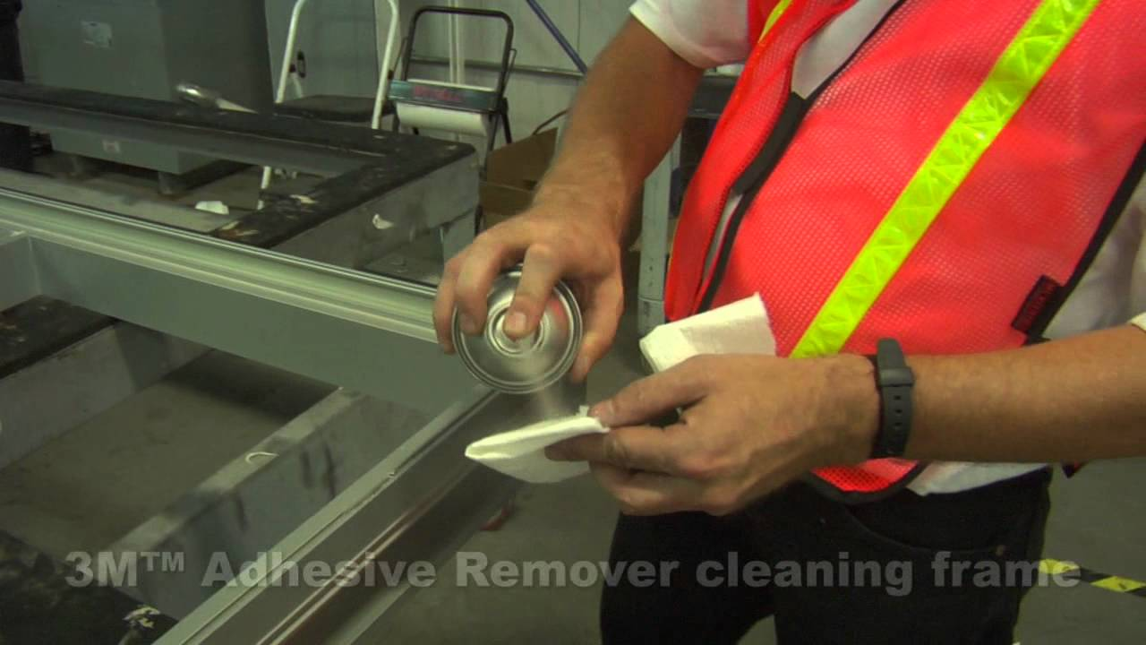 3M(TM) VHB(TM) Structural Glazing Tape Glazing Process