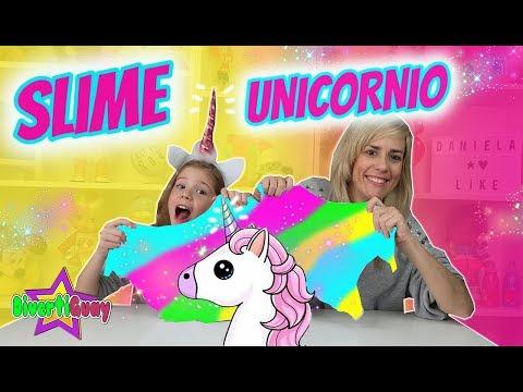 SLIME GIGANTE DE UNICORNIO de Colores!! Daniela DivertiGuay