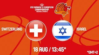 LIVE 🔴 - Switzerland v Israel - FIBA U16 Women